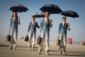 Burning Man business men