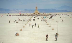 Burning Man temple photo