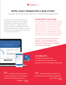 Intel Case Study Screen Shot