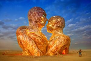 Burning Man giant heads