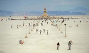 Burning Man temple photo