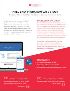 Intel Case Study Screen Shot